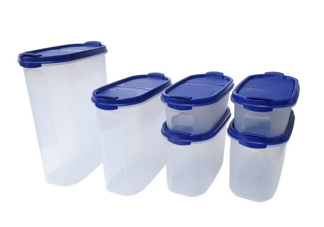 Tupperware Eidgenossen 2x 500 ml + 2x 1,1 l + 1,7 l + 2,3 l