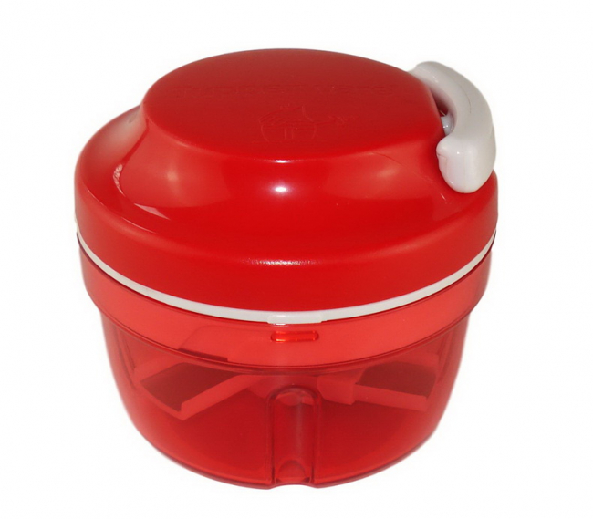 Tupperware Turbo Chef Zwiebelschneider rot